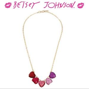 Betsey Johnson Not Your Babe Ombré Hearts Necklace